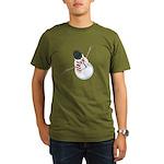 Bliz the Snowman Organic Men's T-Shirt (dark)