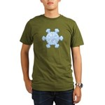 Flurry Snowflake XI Organic Men's T-Shirt (dark)