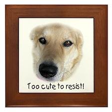 Too Cute Dog Framed Tile