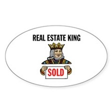 KING OF SOLD Oval Decal