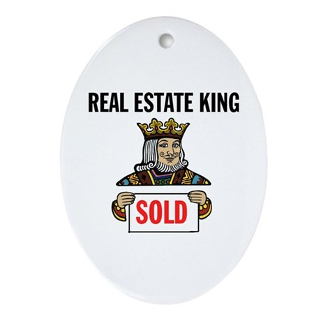 KING OF SOLD Oval Ornament
