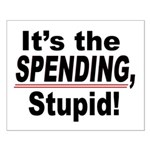 16x20 It's the SPENDING, Stupid Poster