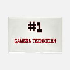 Number 1 CAMERA TECHNICIAN Rectangle Magnet