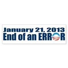 End of an Error Bumper Car Sticker