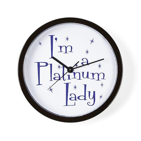 Platinum Lady Wall Clock