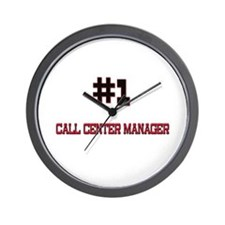 Number 1 CALL CENTER MANAGER Wall Clock