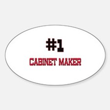 Number 1 CABINET MAKER Oval Decal