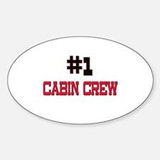 Number 1 CABIN CREW Oval Decal