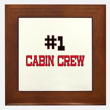 Number 1 CABIN CREW Framed Tile