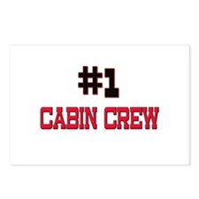 Number 1 CABIN CREW Postcards (Package of 8)