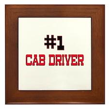 Number 1 CAB DRIVER Framed Tile
