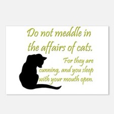 Don't Meddle with Cats Postcards (Package of 8)