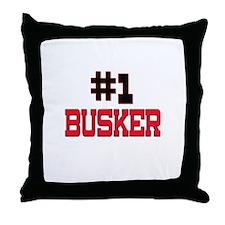 Number 1 BUSKER Throw Pillow