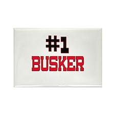Number 1 BUSKER Rectangle Magnet