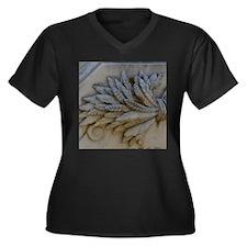 Wheat Women's Plus Size V-Neck Dark T-Shirt