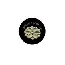Funny Gravestone design Mini Button (100 pack)