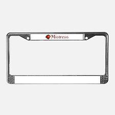 BDSM Mistress License Plate Frame