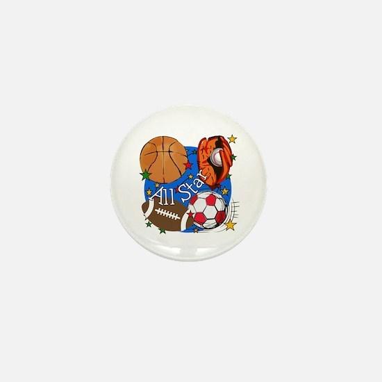 All Star Sports Mini Button