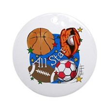 All Star Sports Ornament (Round)
