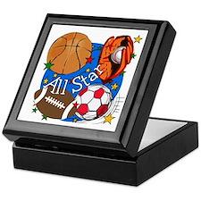 All Star Sports Keepsake Box