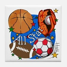 All Star Sports Tile Coaster