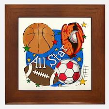 All Star Sports Framed Tile