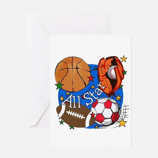 All Star Sports Greeting Card