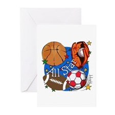All Star Sports Greeting Cards (Pk of 10)