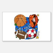 All Star Sports Rectangle Sticker 10 pk)