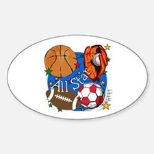 All Star Sports Oval Sticker (10 pk)
