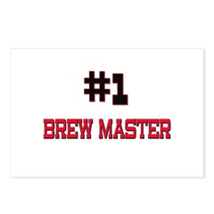 Number 1 BREW MASTER Postcards (Package of 8)
