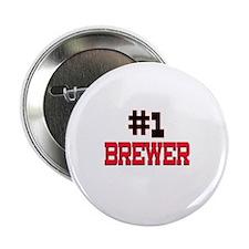 "Number 1 BREWER 2.25"" Button"