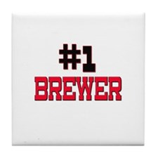 Number 1 BREWER Tile Coaster