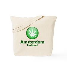 Green Amsterdam Pot Tote Bag