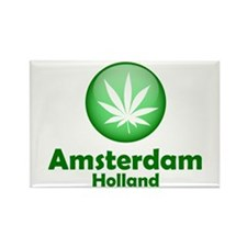 Green Amsterdam Pot Rectangle Magnet