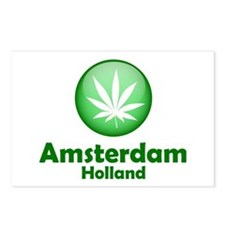 Green Amsterdam Pot Postcards (Package of 8)