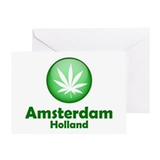Green Amsterdam Pot Greeting Card