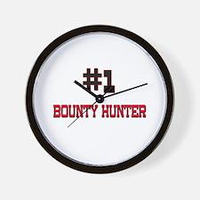 Number 1 BOUNTY HUNTER Wall Clock