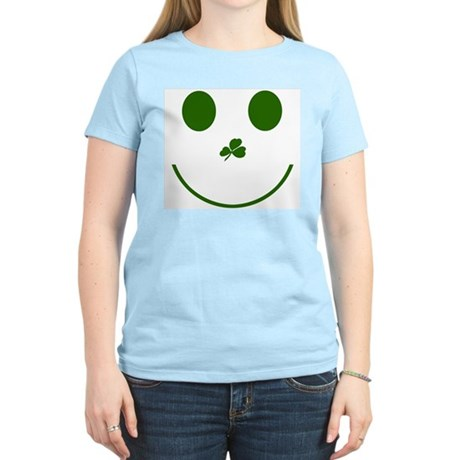 Irish Smiley Face Women's Pink T-Shirt