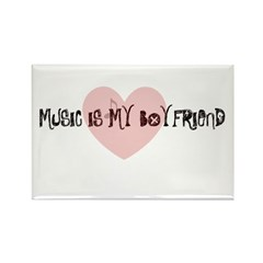 music is my boyfriend Rectangle Magnet (10 pack)