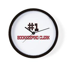 Number 1 BOOKKEEPING CLERK Wall Clock