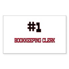 Number 1 BOOKKEEPING CLERK Rectangle Decal