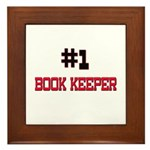 Number 1 BOOK KEEPER Framed Tile