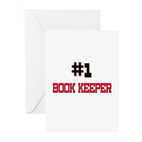 Number 1 BOOK KEEPER Greeting Cards (Pk of 10)