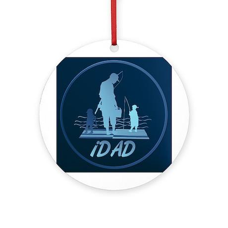 iDAD Framed Ornament (Round)