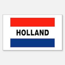 Holland Flag Rectangle Decal