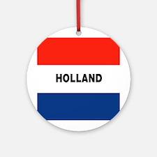 Holland Flag Ornament (Round)