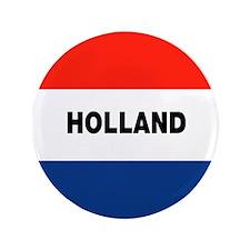 "Holland Flag 3.5"" Button"