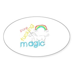 Pure Magic yo! Oval Sticker (50 pk)