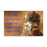 Chicken Feed Mini Poster Print
